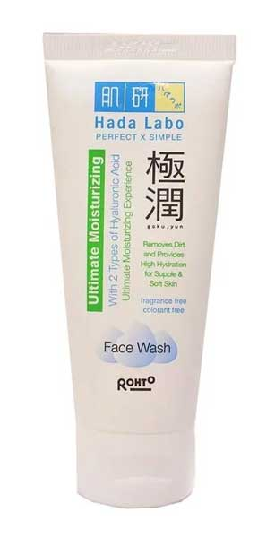 Facial Wash Yang Bagus Untuk Kulit Sensitif - Hada Labo Gokujyun Ultimate Moisturizing Foaming Face Wash