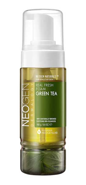 Facial Wash Yang Bagus Untuk Kulit Sensitif - Neogen Dermalogy Real Fresh Foam Cleanser Green Tea